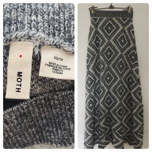 Anthropologie MOTH Stacked Angles Sweater Skirt